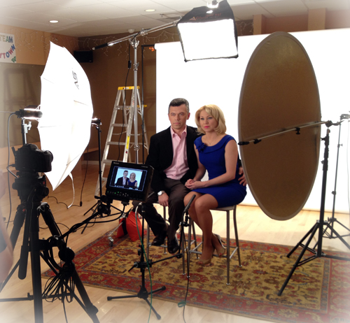 Commercial Video Production in progress in Westchester, NY