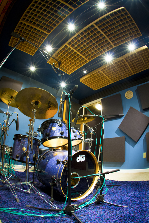 The drum room in our music studio in Westchester